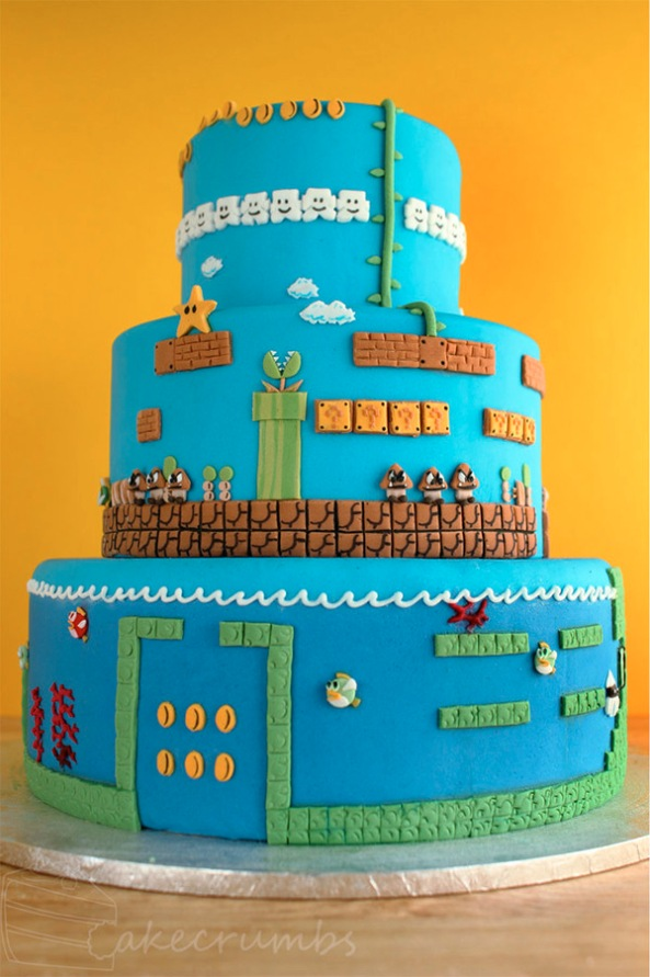 Mario Cake Print