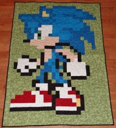 sonic_quilt_by_quiltoni-d5zby6z