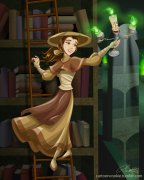 belle_and_the_mystical_library_by_racookie3-d6hpn2w